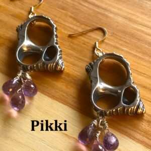 Amethyst Drop Turbo Earrings1