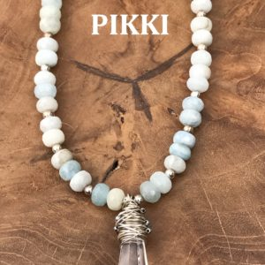 Aquamarine & Egyptian quartz necklace 2